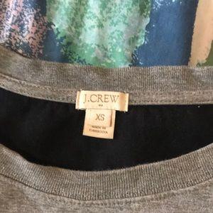 J. Crew Tops - Jcrew cropped grey sweatshirt